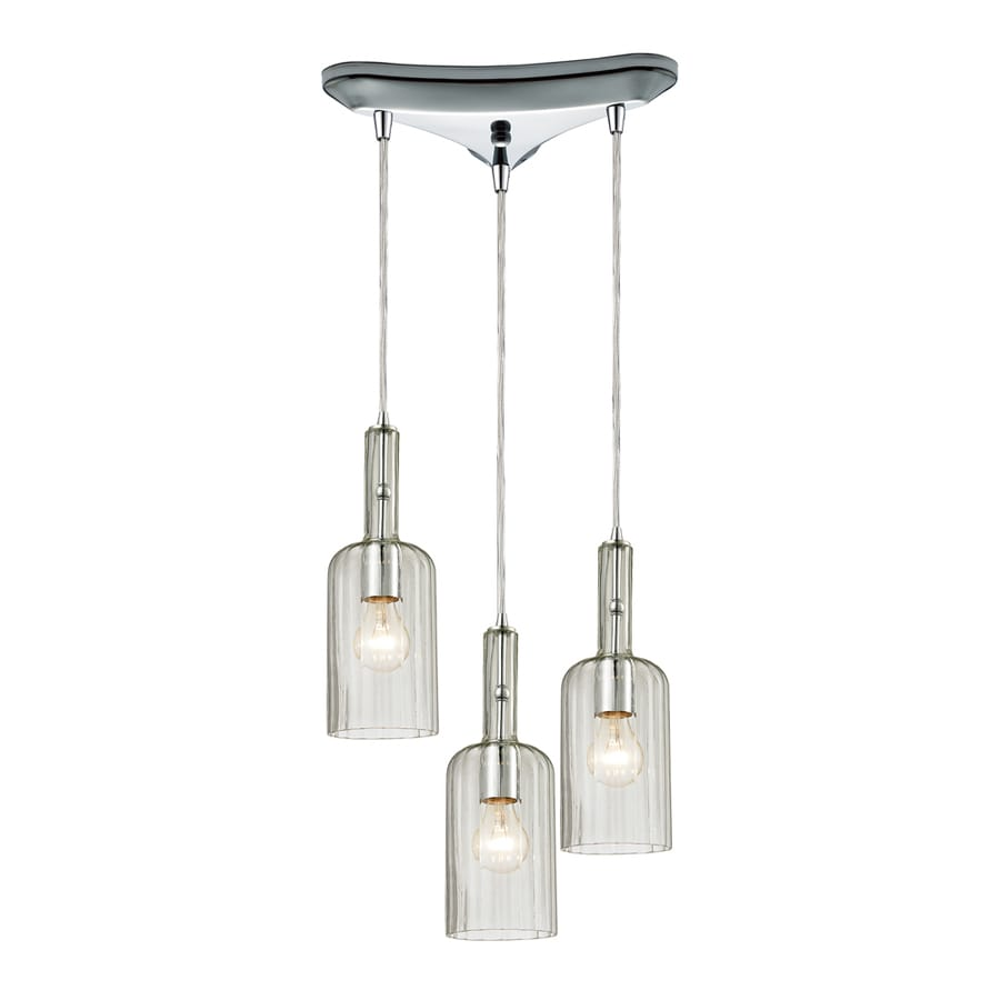 Westmore Lighting Alvingham 10-in Polished Chrome Mini Clear Glass Pendant