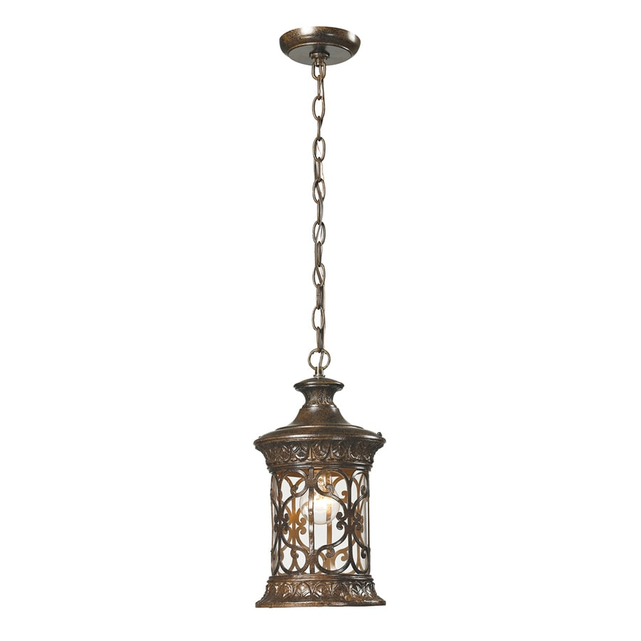 Westmore Lighting Cosette 15-in Hazelnut Bronze Outdoor Pendant Light