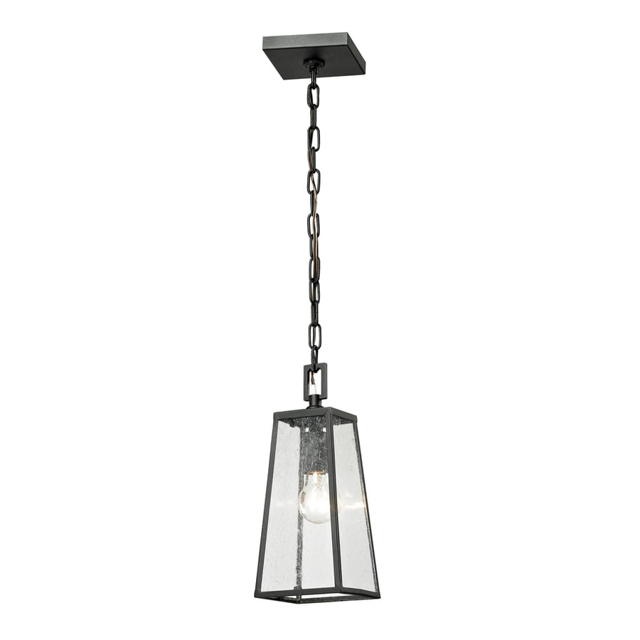 Westmore Lighting Fleetwood 13-in Textured Matte Black Outdoor Pendant Light