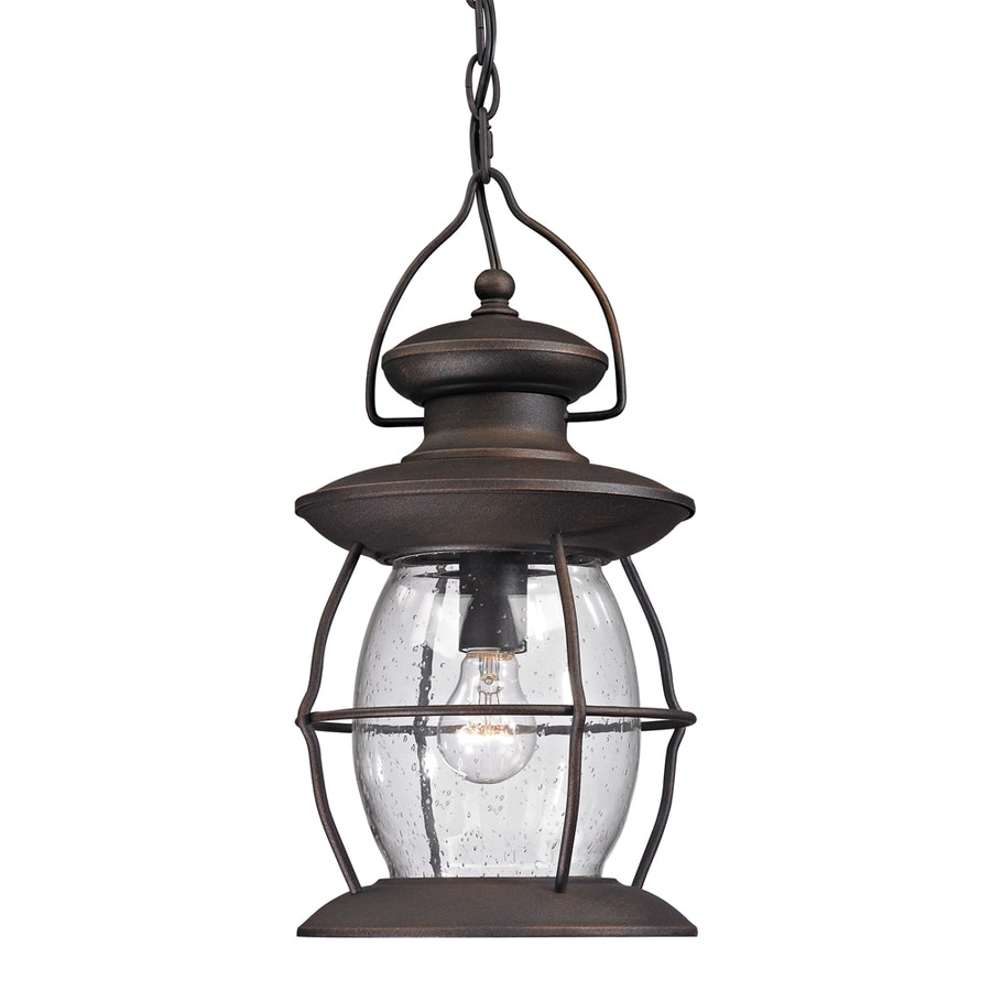 Westmore Lighting Sutter's Mill 17-in Weathered Charcoal Outdoor Pendant Light