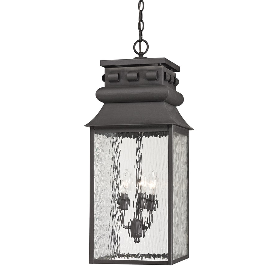 Westmore Lighting Eckhart's Forge 27-in Charcoal Outdoor Pendant Light