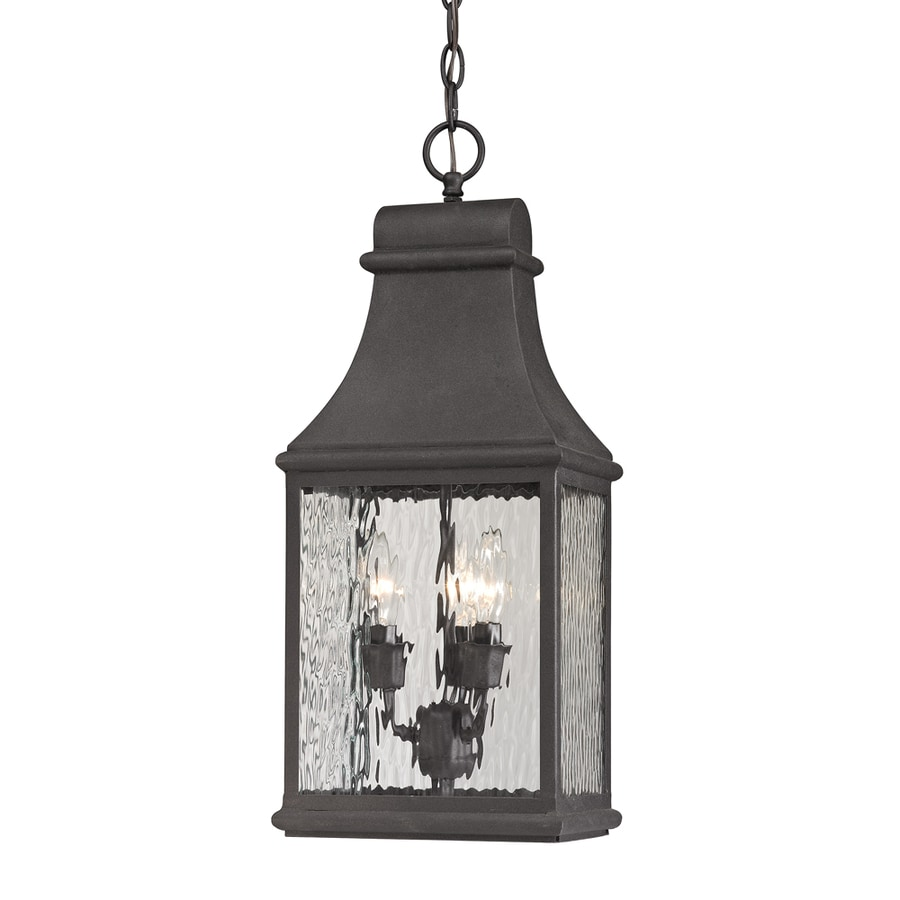 Westmore Lighting Foxborough 22-in Charcoal Outdoor Pendant Light