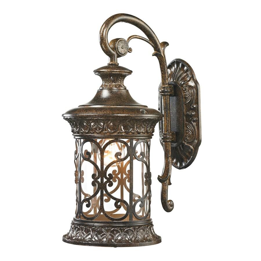 Westmore Lighting Cosette 17-in H Hazelnut Bronze Outdoor Wall Light