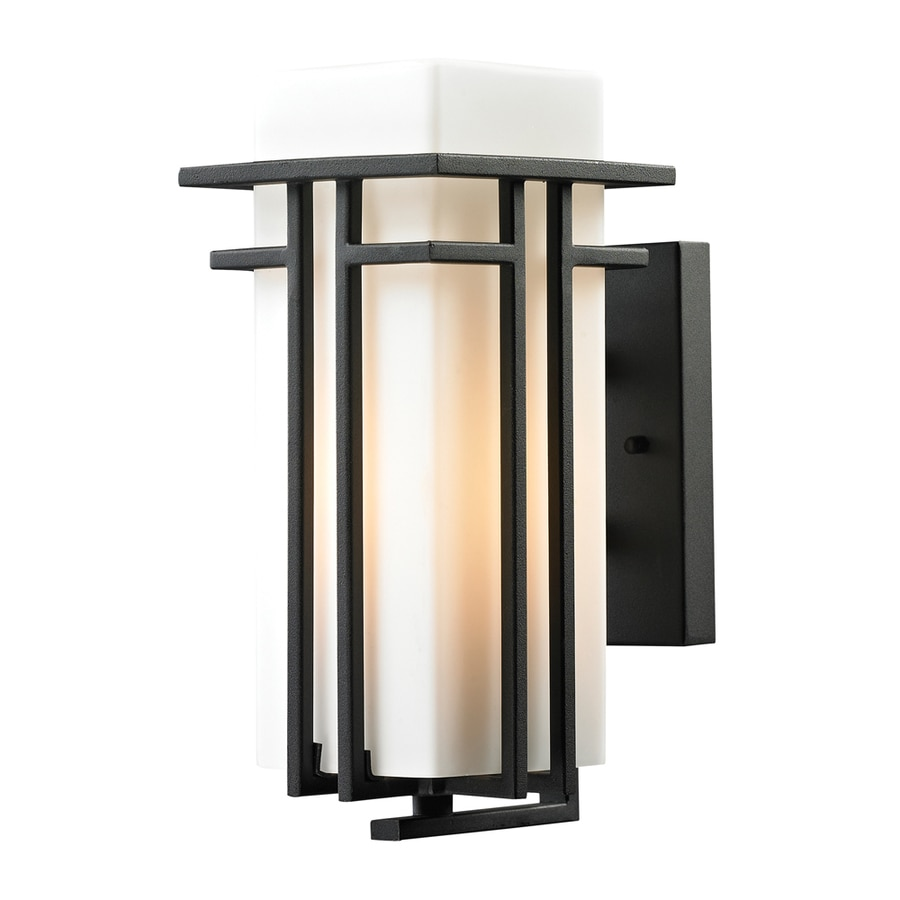 Westmore Lighting Stickley 12-in H Textured Matte Black Outdoor Wall Light