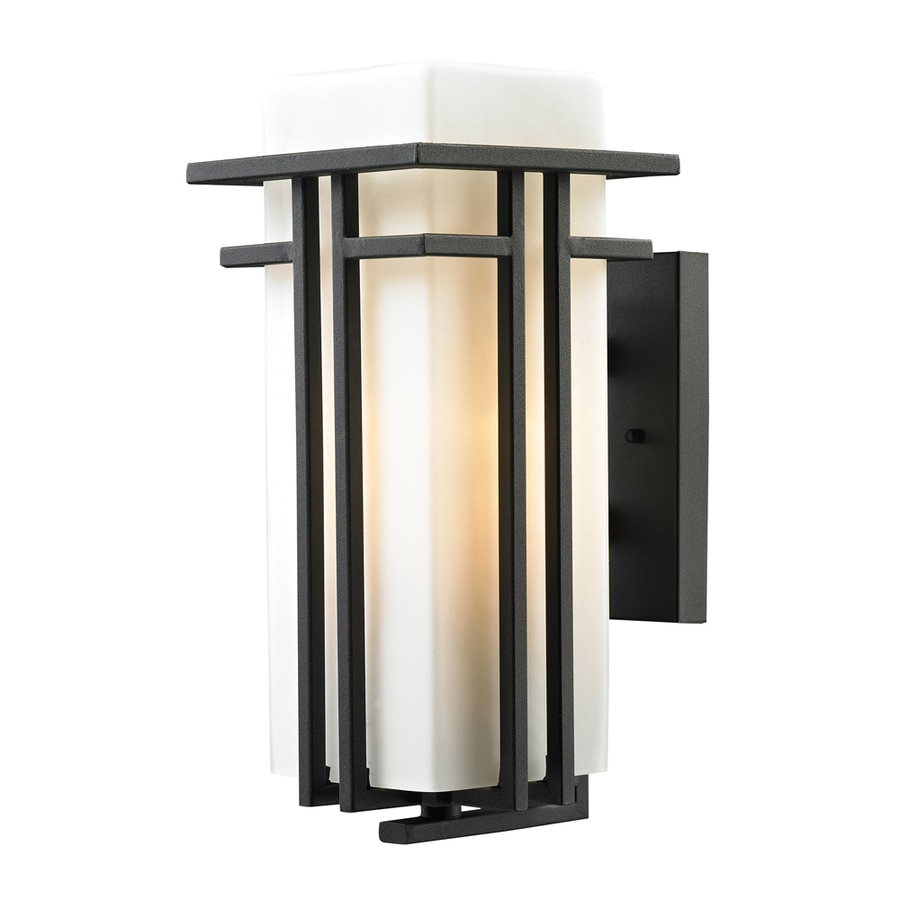 Westmore Lighting Stickley 15-in H Textured Matte Black Outdoor Wall Light