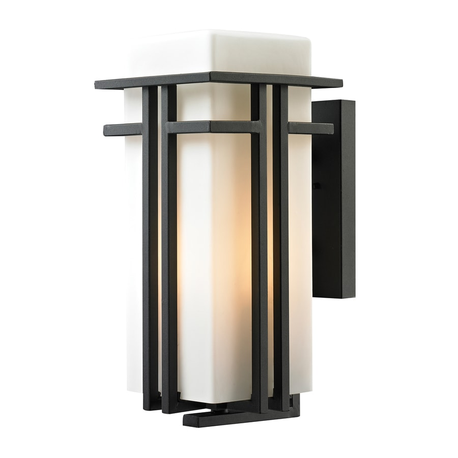 Westmore Lighting Stickley 17-in H Textured Matte Black Outdoor Wall Light