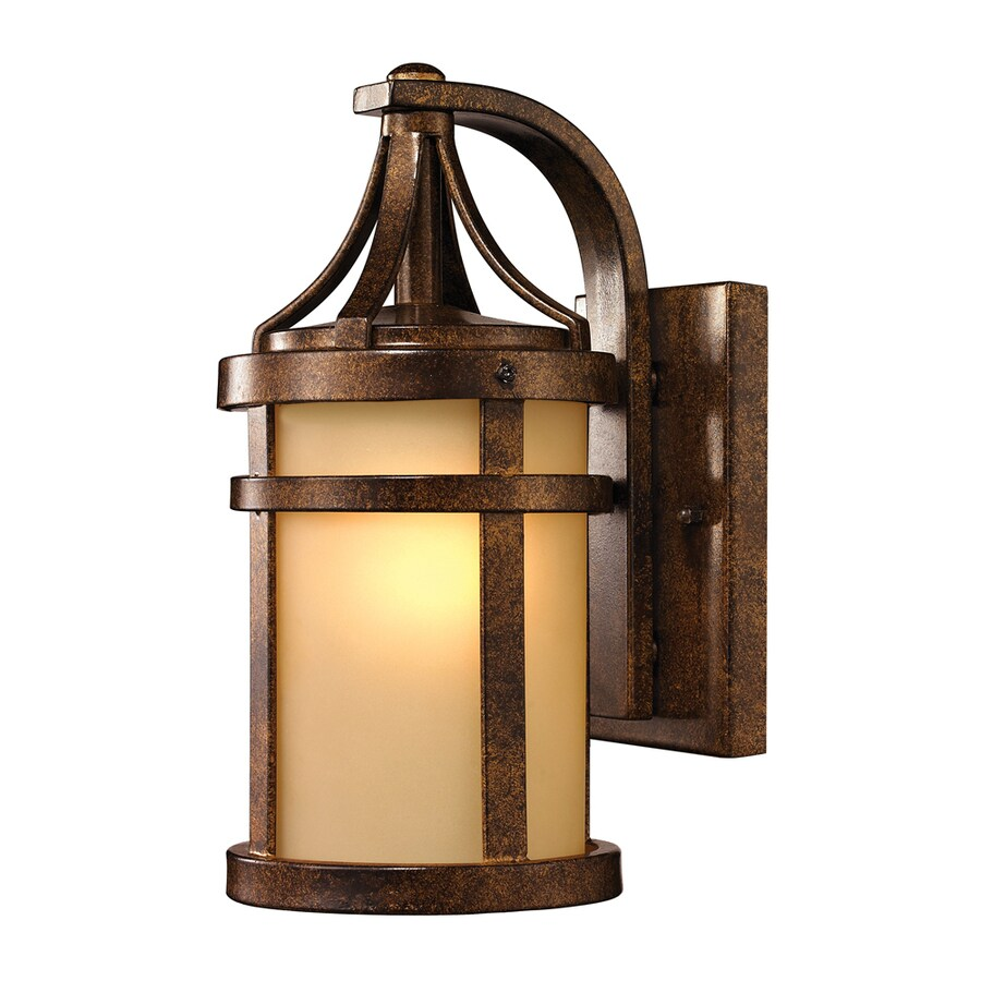 Westmore Lighting Tiburon 12-in H Hazelnut Bronze Outdoor Wall Light