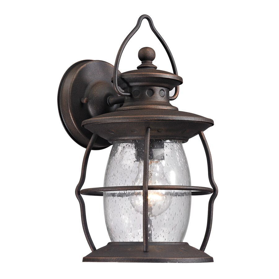 Westmore Lighting Sutter's Mill 13-in H Weathered Charcoal Outdoor Wall Light