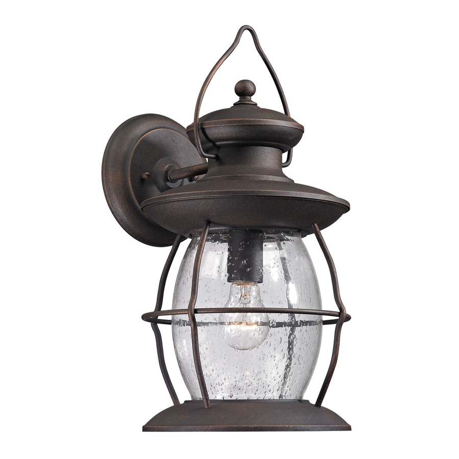 Westmore Lighting Sutter's Mill 17-in H Weathered Charcoal Outdoor Wall Light