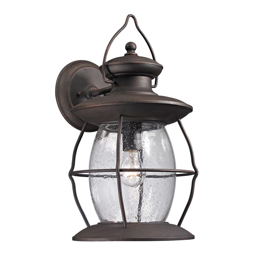 Westmore Lighting Sutter's Mill 18-in H Weathered Charcoal Outdoor Wall Light