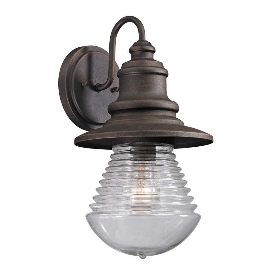 Westmore Lighting Bonney Lake 15-in H Weathered Charcoal Outdoor Wall Light