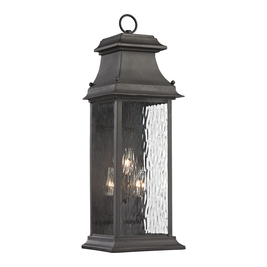Westmore Lighting Barnstable Forge 23-in H Charcoal Outdoor Wall Light