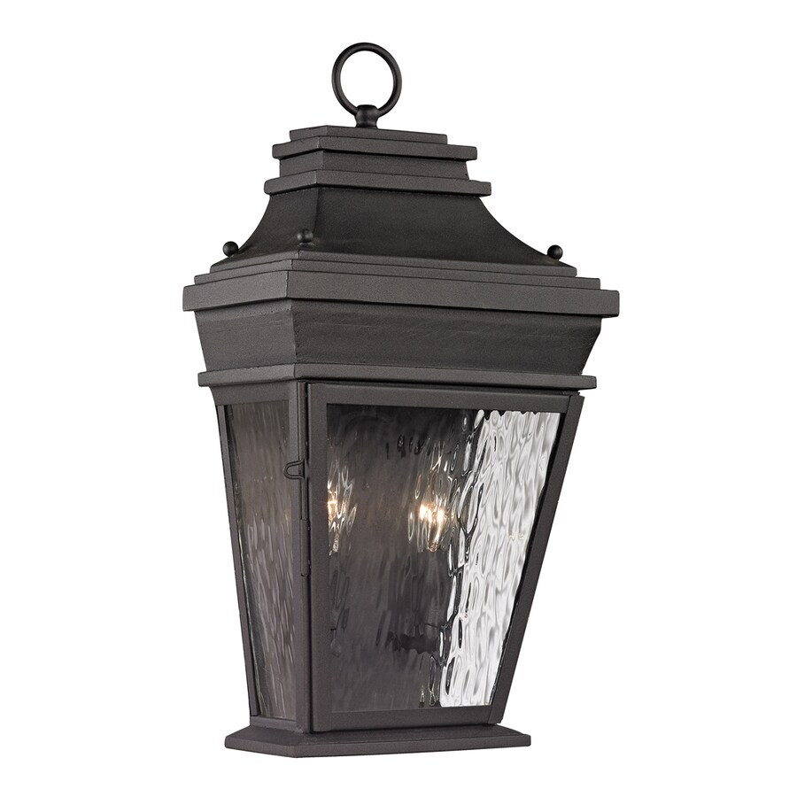 Westmore Lighting Barnstable Forge 18-in H Charcoal Outdoor Wall Light