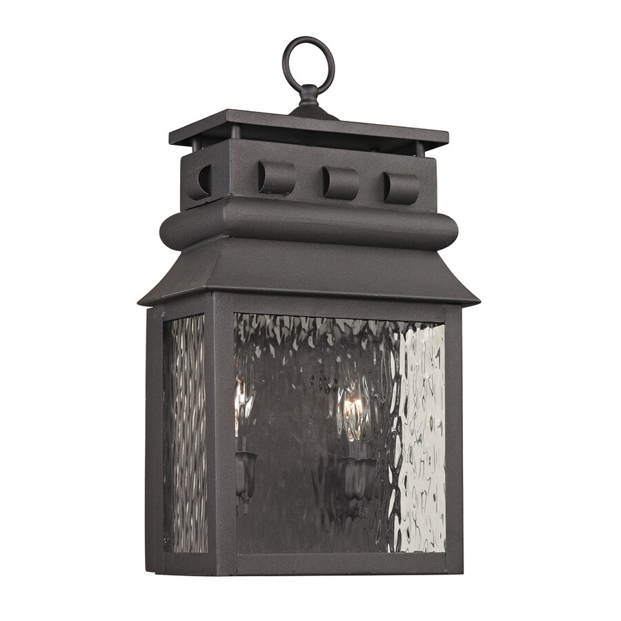 Westmore Lighting Eckhart's Forge 18-in H Charcoal Outdoor Wall Light