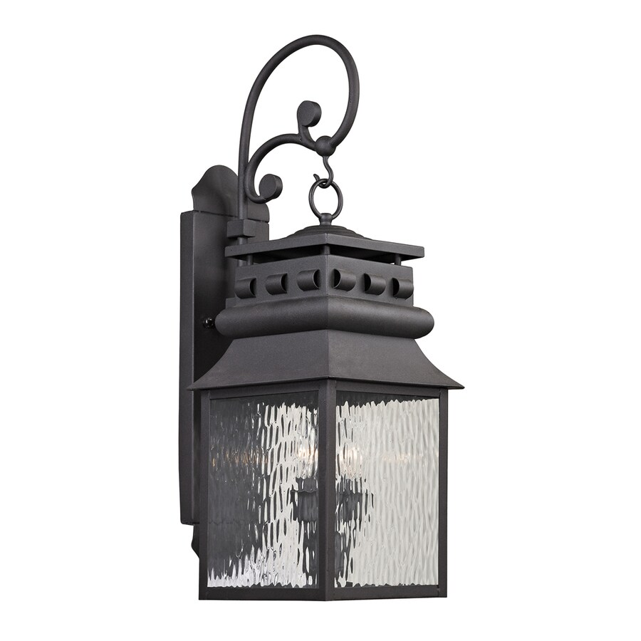 Westmore Lighting Eckhart's Forge 26-in H Charcoal Outdoor Wall Light