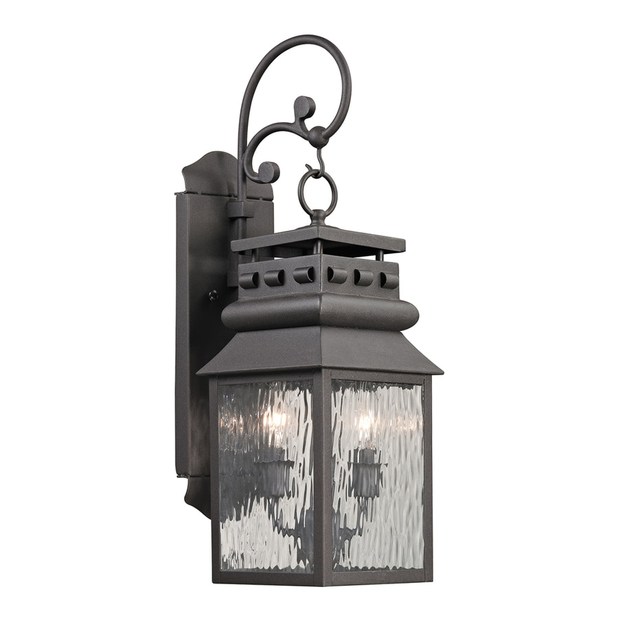Westmore Lighting Eckhart's Forge 22-in H Charcoal Outdoor Wall Light