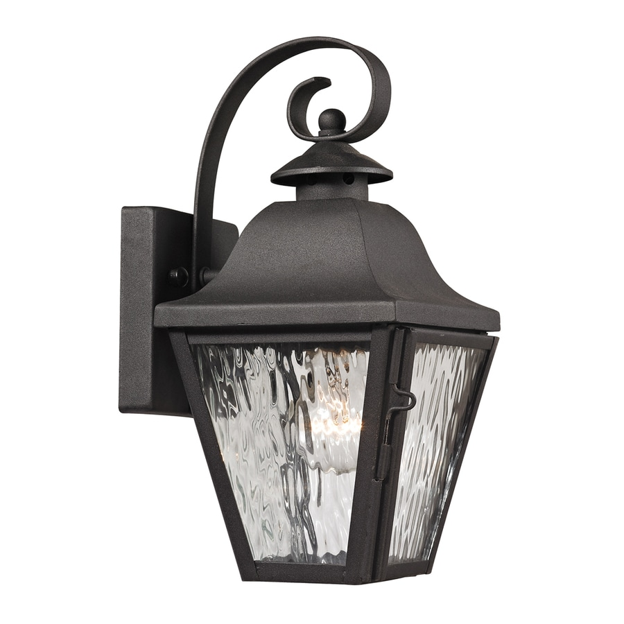 Westmore Lighting Black Creek 12-in H Charcoal Outdoor Wall Light
