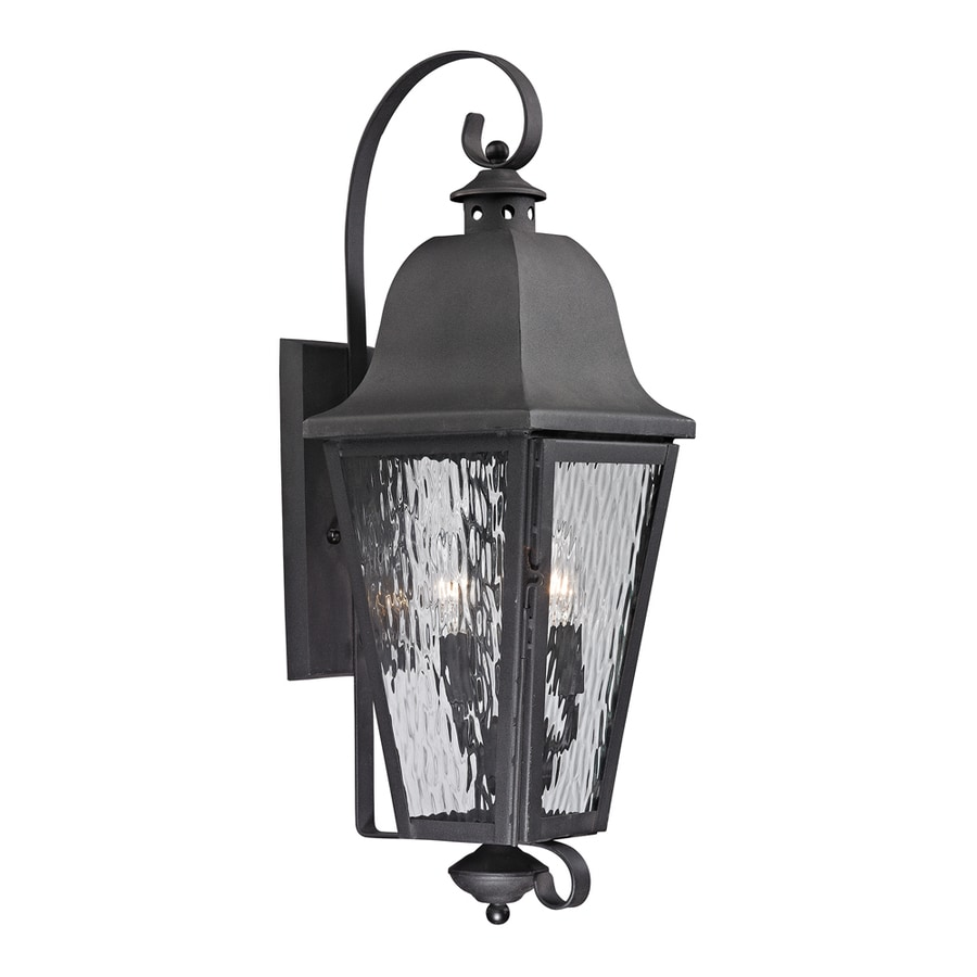 Westmore Lighting Black Creek 30-in H Charcoal Outdoor Wall Light