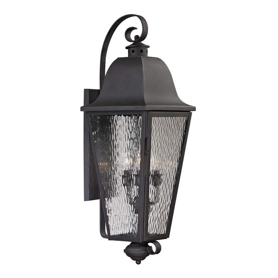 Westmore Lighting Black Creek 37-in H Charcoal Outdoor Wall Light