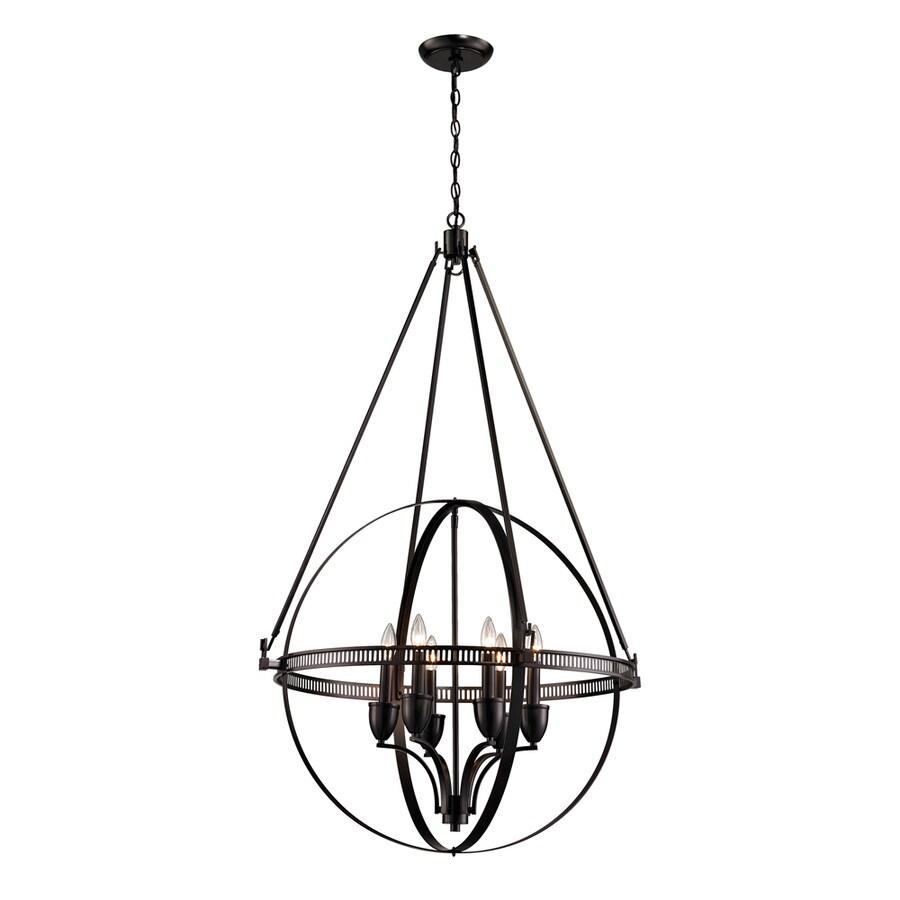 Westmore Lighting Atlas 24-in Oil Rubbed Bronze Vintage Single Geometric Pendant