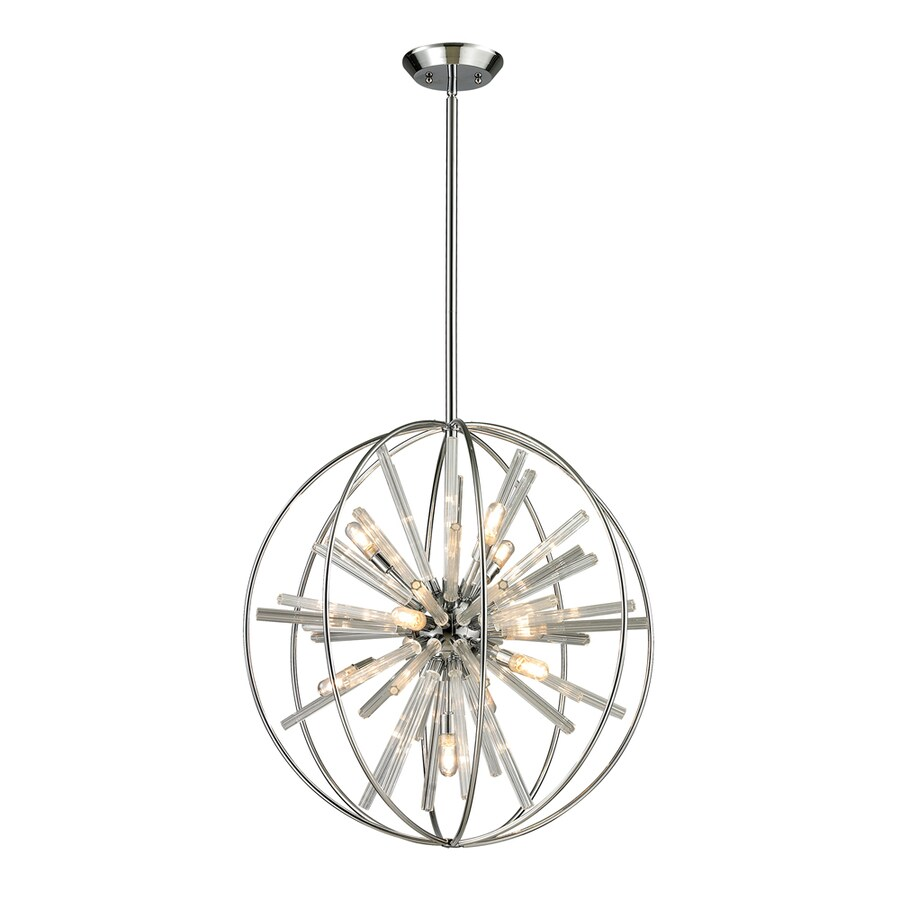 Westmore Lighting Goddard 22-in Polished Chrome Single Pendant