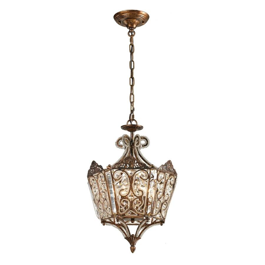 Westmore Lighting Jordell 13-in Spanish Bronze Crystal Single Crystal Pendant
