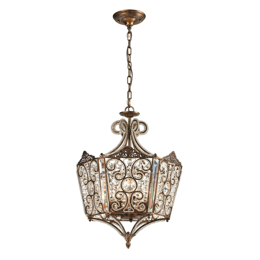 Westmore Lighting Jordell 17-in Spanish Bronze Crystal Single Crystal Pendant