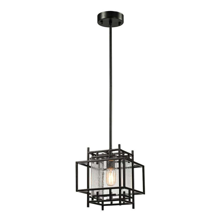 Westmore Lighting Escher 10-in Oil Rubbed Bronze Mini Clear Glass Pendant