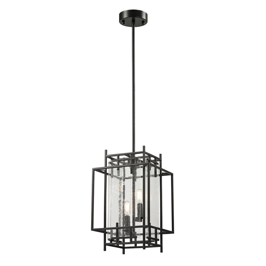 Westmore Lighting Escher 11-in Oil Rubbed Bronze Single Clear Glass Pendant