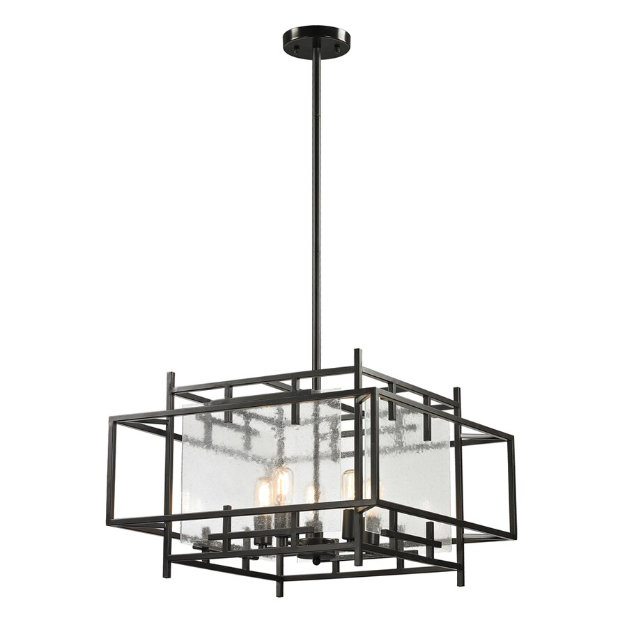 Westmore Lighting Escher 25-in Oil Rubbed Bronze Single Clear Glass Pendant