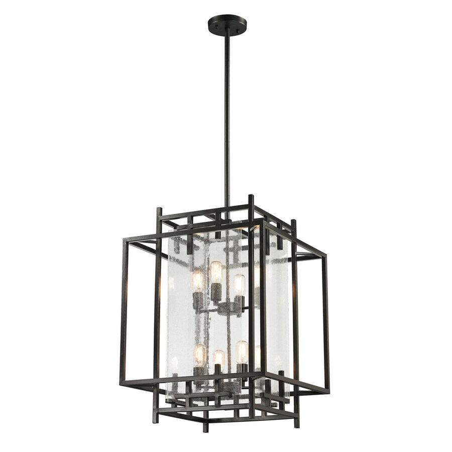Westmore Lighting Escher 17-in Oil Rubbed Bronze Single Clear Glass Geometric Pendant