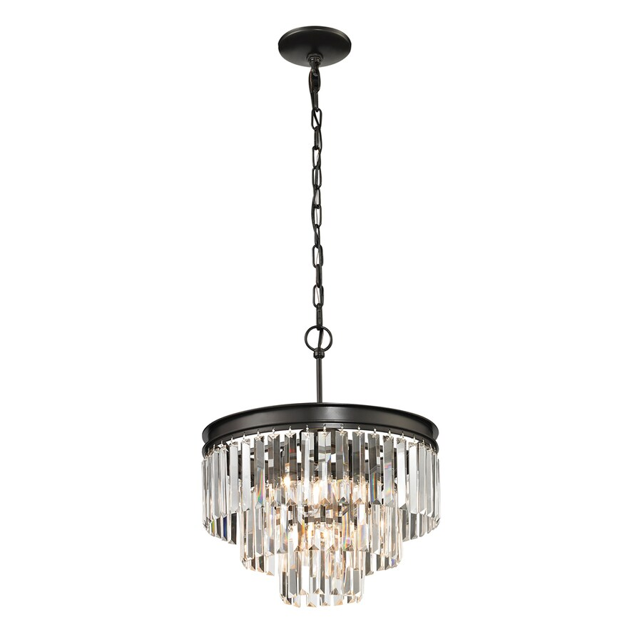 Westmore Lighting Zurich 16-in Oil Rubbed Bronze Crystal Single Crystal Pendant