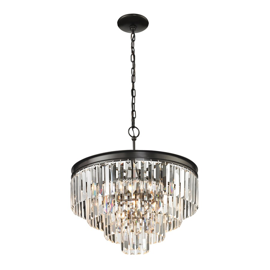 Westmore Lighting Zurich 20-in Oil Rubbed Bronze Crystal Single Crystal Pendant