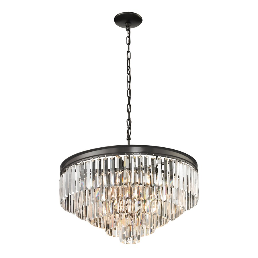 Westmore Lighting Zurich 24-in Oil Rubbed Bronze Crystal Single Crystal Pendant