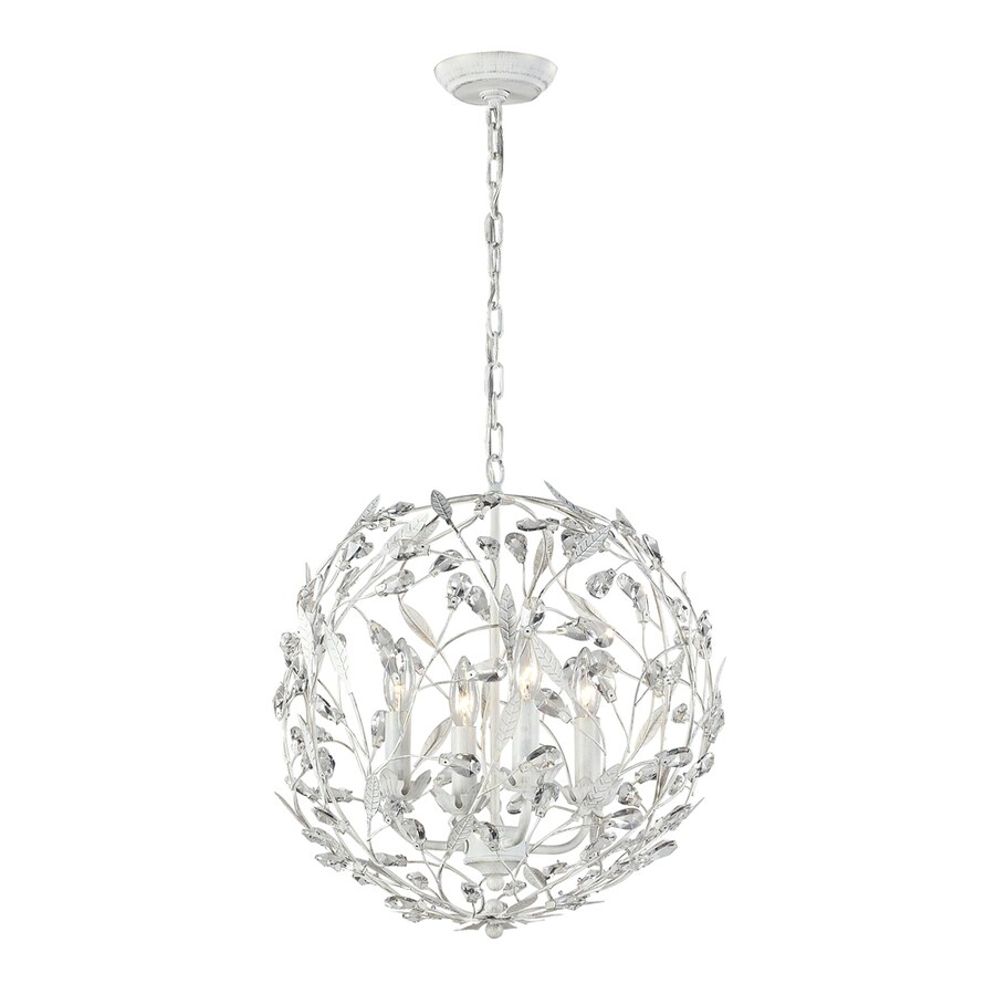 Westmore Lighting Faun 19-in Antique White Single Globe Pendant