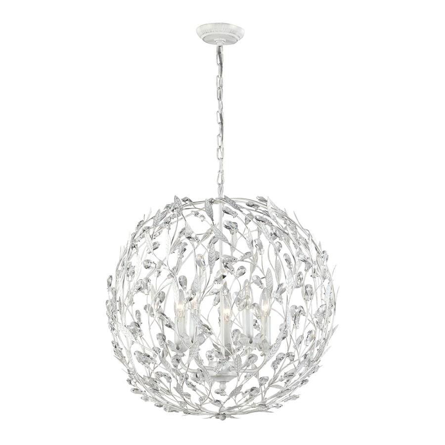 Westmore Lighting Faun 19-in Antique White Single Globe Pendant