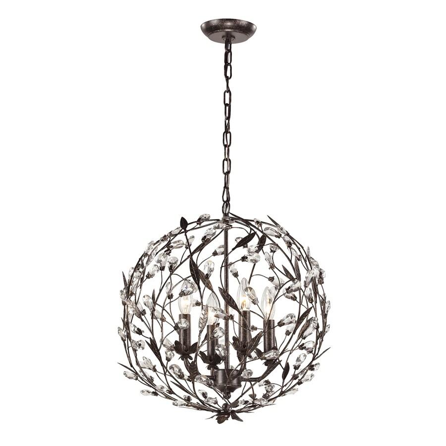 Westmore Lighting Faun 19-in Deep Rust Single Globe Pendant