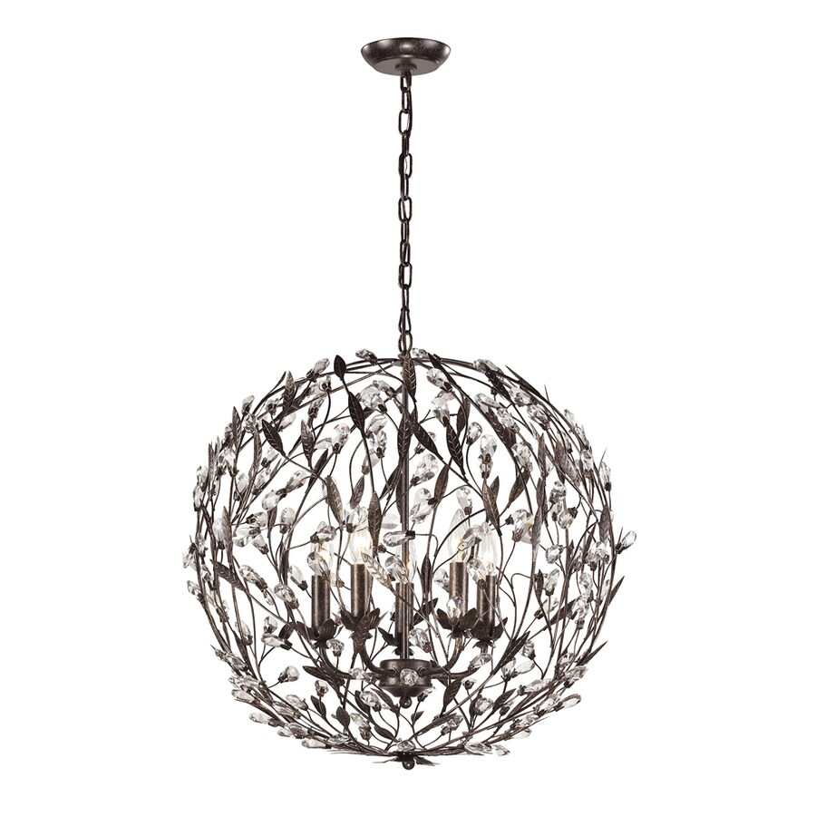 Westmore Lighting Faun 19-in Deep Rust Single Globe Pendant