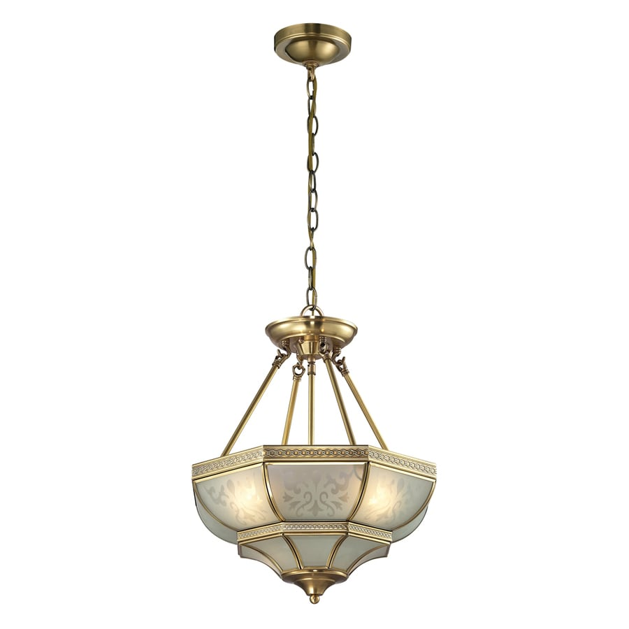Westmore Lighting Provencale 16-in Brushed Brass Single Pendant