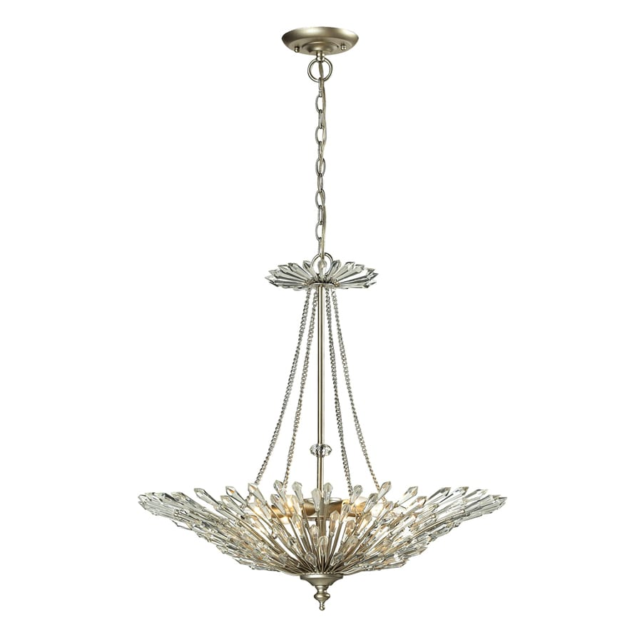 Westmore Lighting Avia 26-in Aged Silver Crystal Single Pendant