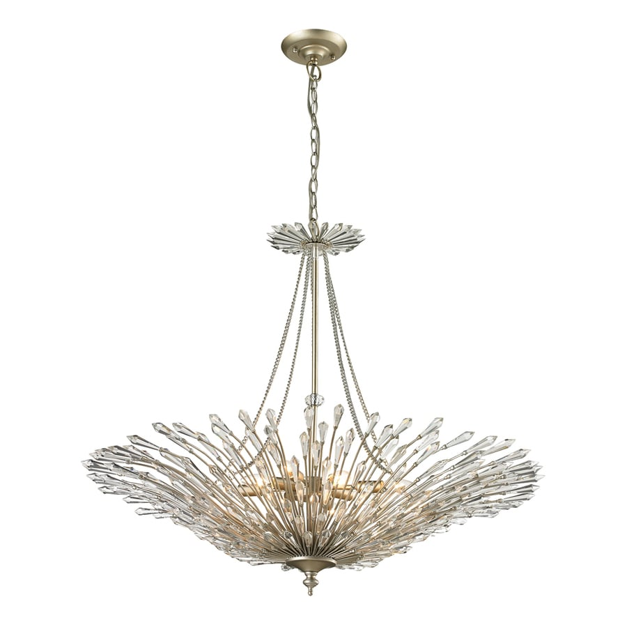 Westmore Lighting Avia 37-in Aged Silver Crystal Single Pendant
