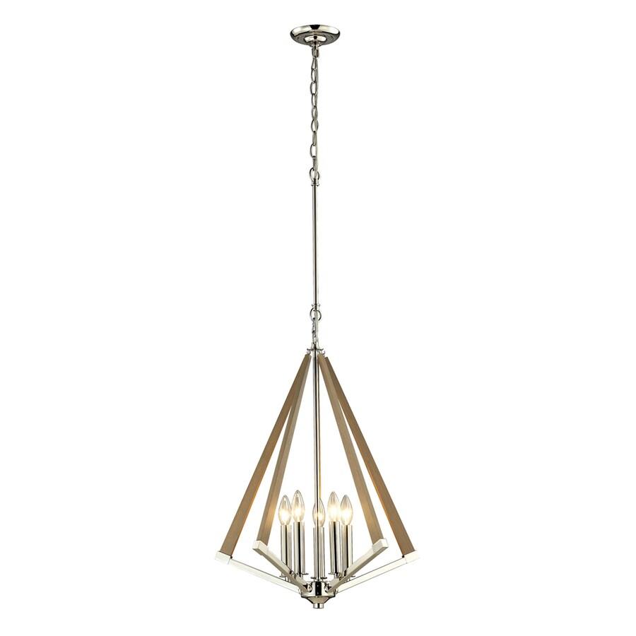 Westmore Lighting Kinghall 20-in Polished Nickel Single Pendant