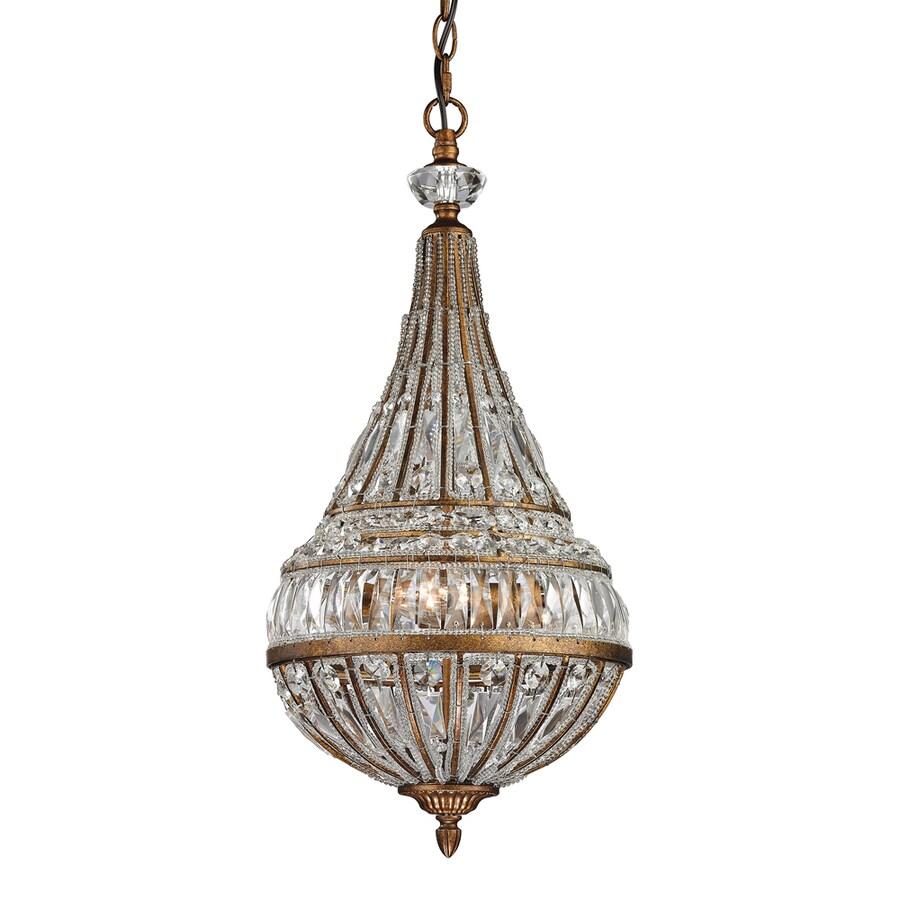 Westmore Lighting Wakefield 11-in Mocha Crystal Single Crystal Pendant