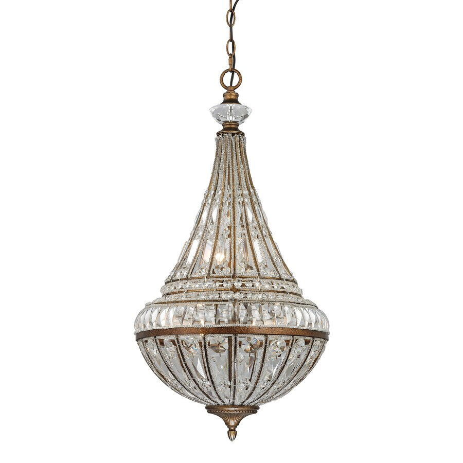 Westmore Lighting Wakefield 16-in Mocha Crystal Single Crystal Pendant
