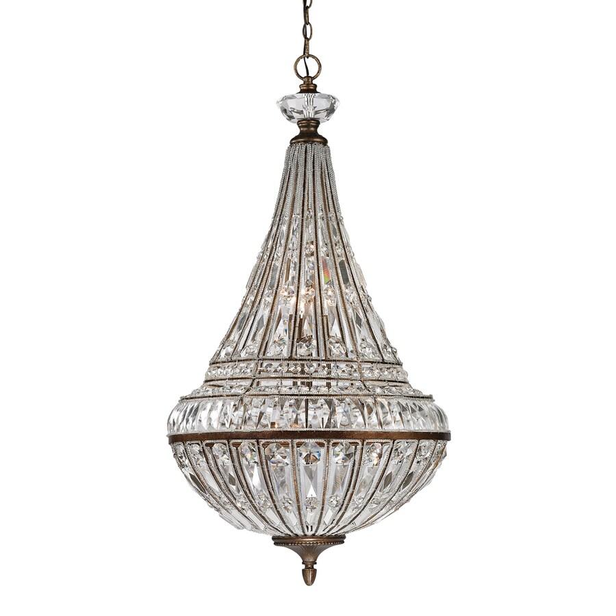Westmore Lighting Wakefield 23-in Mocha Crystal Single Crystal Pendant