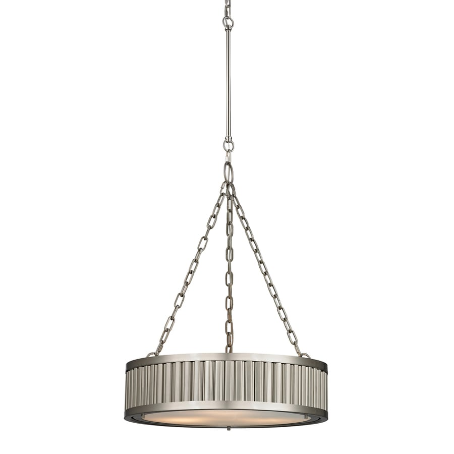 Westmore Lighting Chelsea 20-in Brushed Nickel Single Drum Pendant
