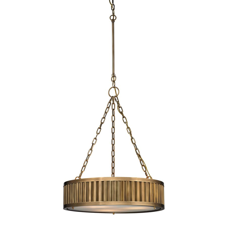 Westmore Lighting Chelsea 20-in Aged Brass Single Drum Pendant
