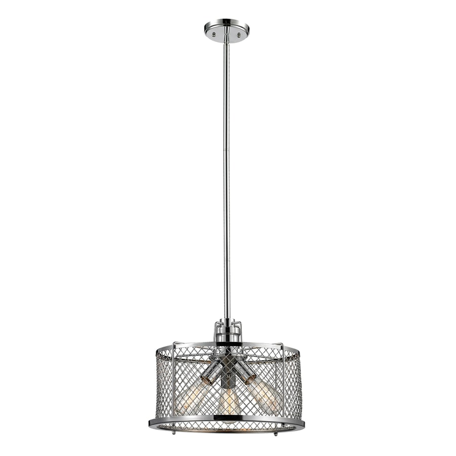 Westmore Lighting Wardenclyffe 16-in Polished Chrome Industrial Single Drum Pendant