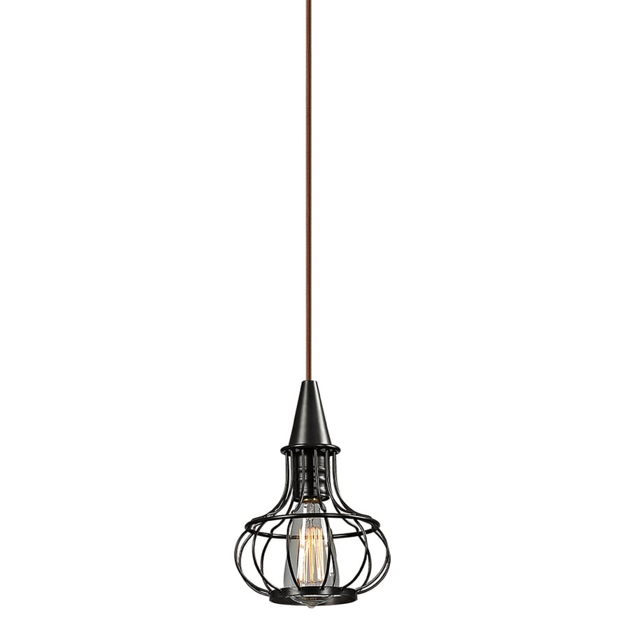 Westmore Lighting Bournemouth 7-in Oil Rubbed Bronze Vintage Mini Pendant