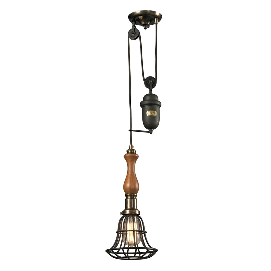Westmore Lighting Brigsley 7-in Vintage Rust Mini Pendant